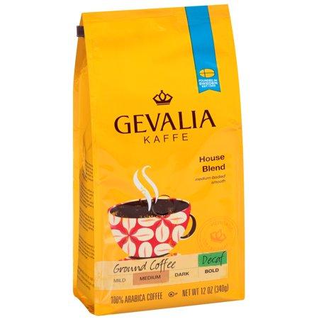 Gevalia Kaffe House Blend Medium Roast Decaf Ground Coffee, 12 OZ (340g)