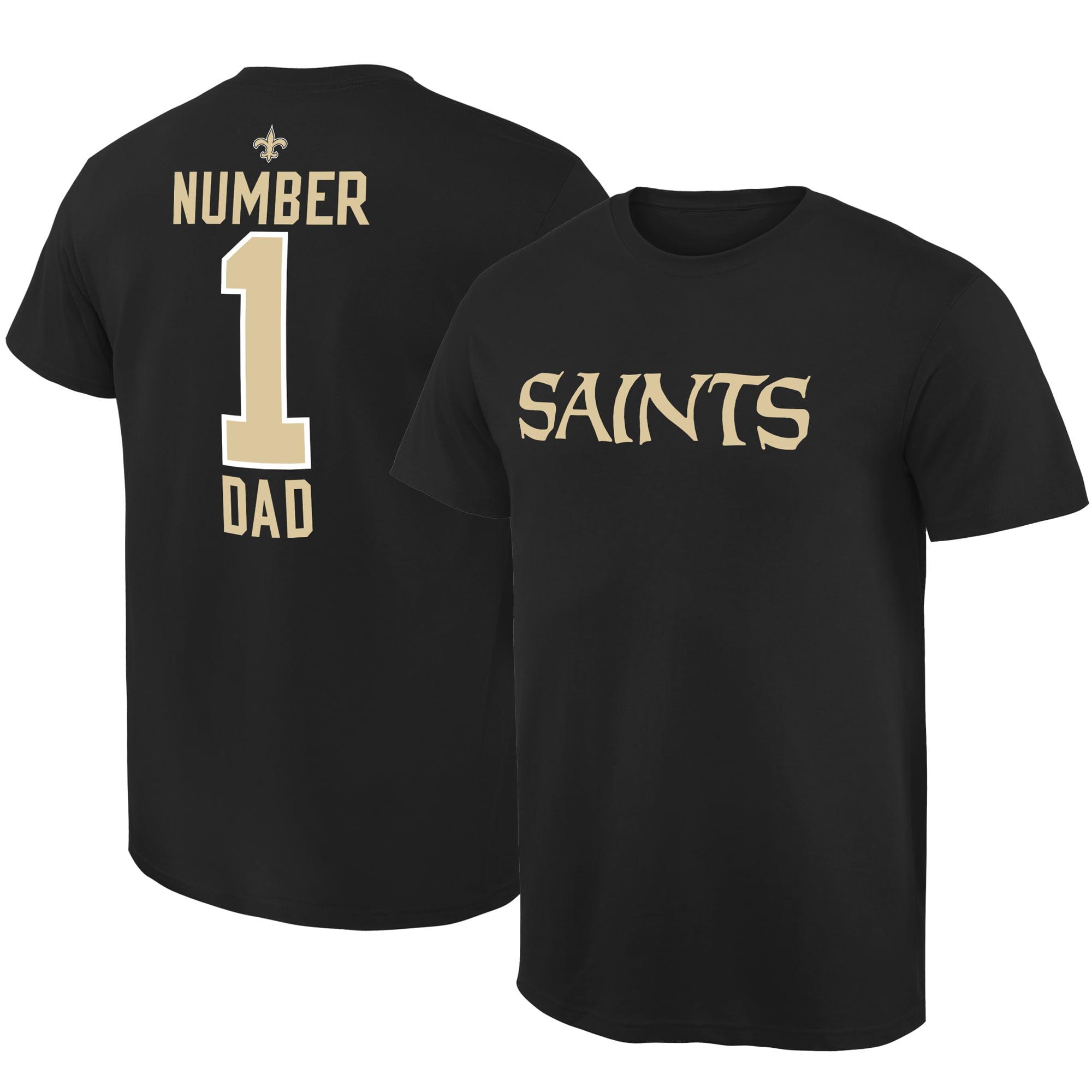 New Orleans Saints #1 Dad T-Shirt - Black