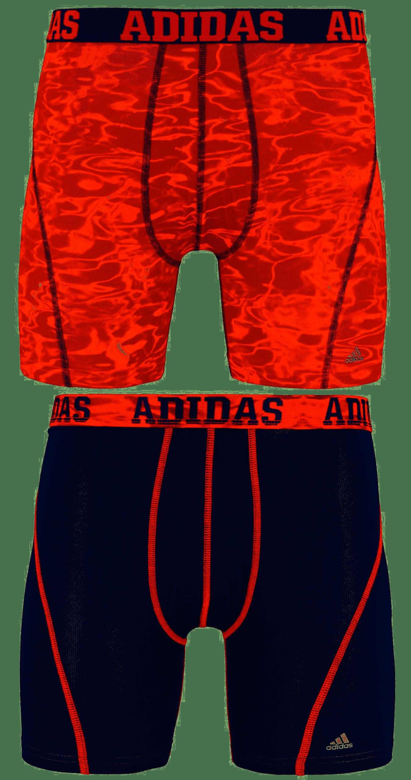 Adidas - ADIDAS MEN'S UNDERWEAR BOXER BRIEF - ORANGE GREY - MEDIUM - 2 PACK - CLIMACOOL - Walmart.com