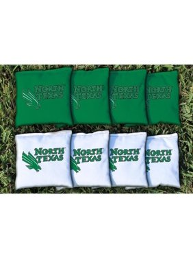 North Texas Mean Green 8-Pack Regulation All-Weather Cornhole Bag Set