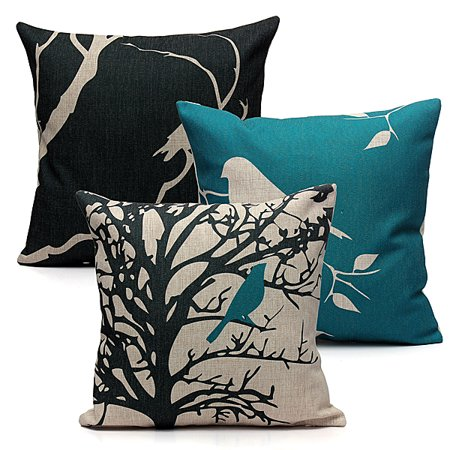 Meigar Decorative Throw Pillow Case Cushion Cover Clearance 18x18 inch Square Zipper Waist Pillowcase Pillow Protector Slip Cases Sham for Home Bedroom Couch Sofa Bed Patio Chair ()