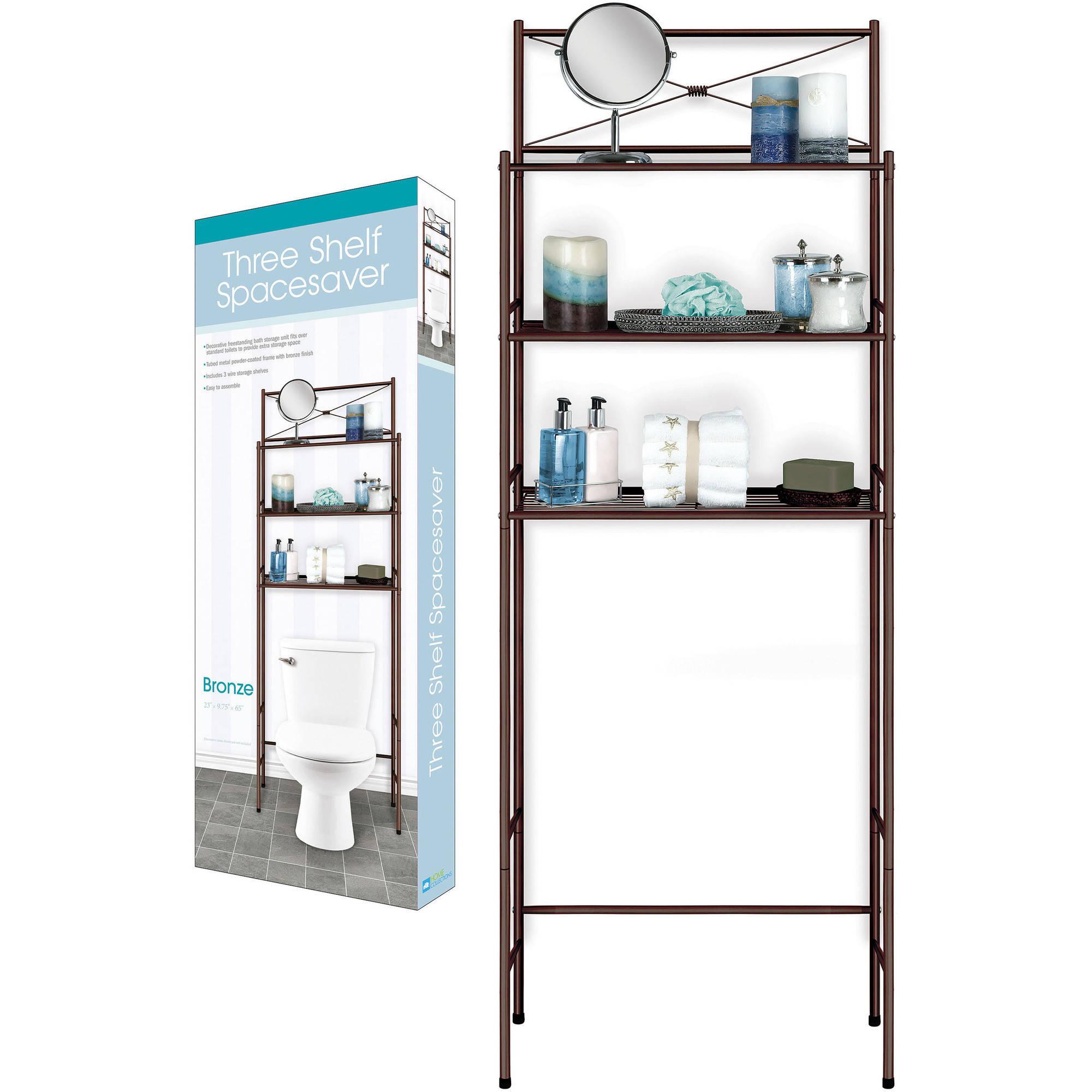 Three-Shelf Space Saver, Bronze