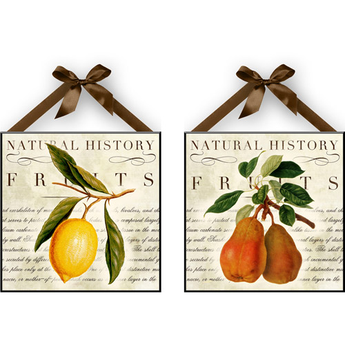 """Natural Lemon & Pear"" Wall Plaques, Set of 2 by"
