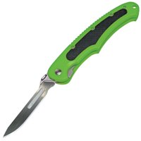 "HAVALON PIRANTA-BOLT FIELD KNIFE 2.75"" STAINLESS STEEL REPLACEABLE PLASTIC GREEN"