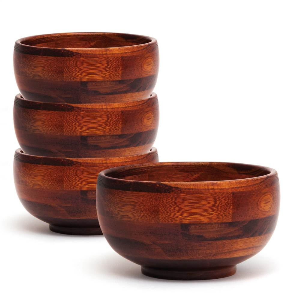 Rice Bowls in Cherry Finish - Set of 4
