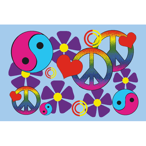 Fun Rugs Fun Time Lovely Peace Kids Rug