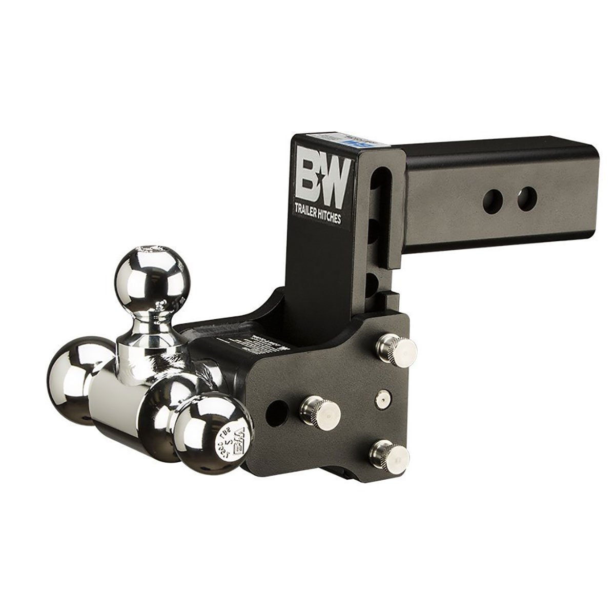 B/&W Trailer Hitches Tow /& Stow 5in Drop 4.5in Rise 1 7//8x2x2 5//16in Triple Ball Size Hitch