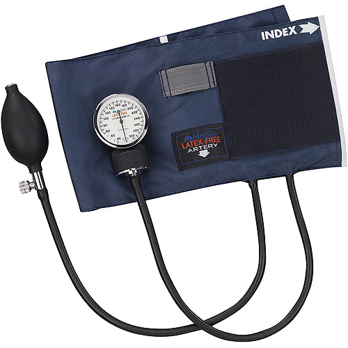 MABIS Precision Series Latex Free Aneroid Sphygmomanometer, Adult