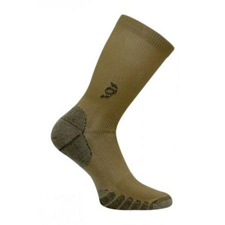 Travelsox Tsc 100 Compression Crew Socks  44  Khaki   Small