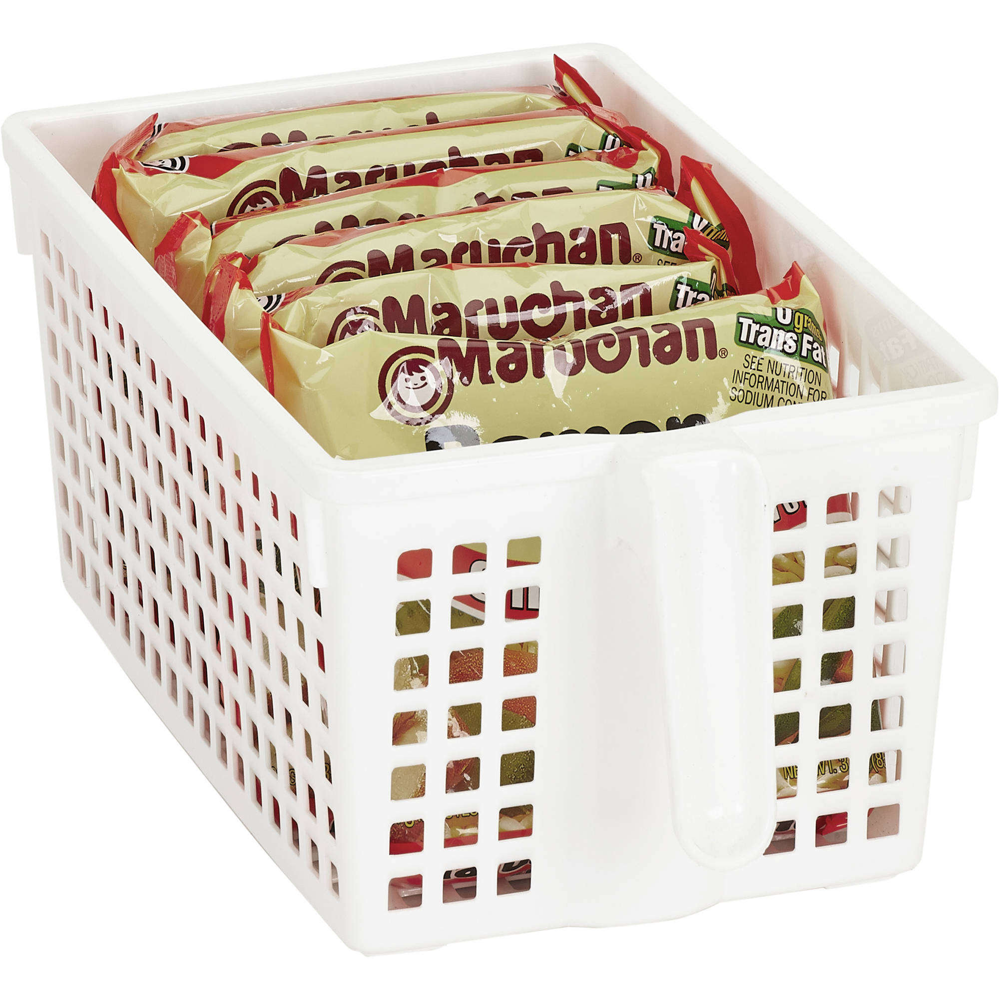 Kitchen Details Easy Pull Pantry Organizer Basket with Handle Grip, Small