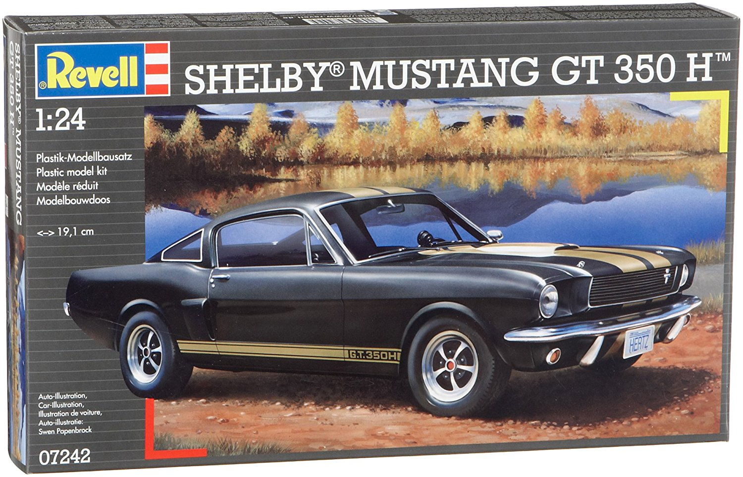 07242 1 24 Shelby Mustang GT 350 H, Revell 1:24 Shelby Mustang GT 350 H Car Model Kit Set... by