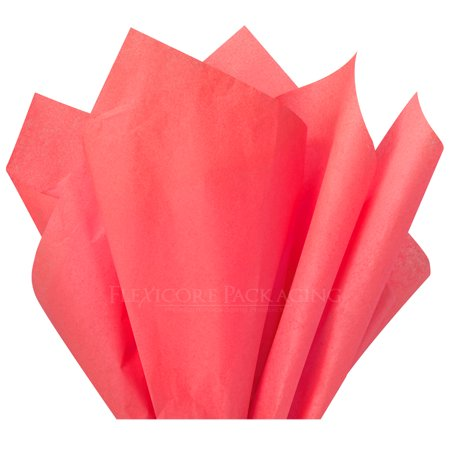 Coral Pink Tissue Paper, 15