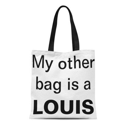 Furla Designer Handbag (LADDKE Canvas Tote Bag Designer My Other Is Louis Cute Girly Diva Funny Reusable Handbag Shoulder Grocery Shopping Bags)