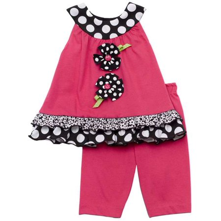 Rare Editions Infant Girls Fuchsia Capri Set  - FINAL SALE 9 - Girls On Sale
