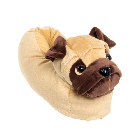 Silver Lilly Pug Dog Novelty Plush Animal Costume Slippers