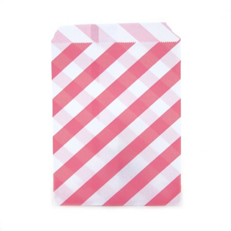 Cupcake Bag (Dress My Cupcake 24-Pack Party Favor Bags, Striped, Bubblegum)