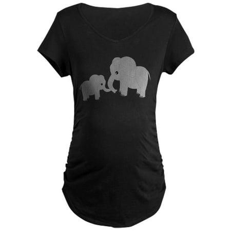 Fun Pregnancy T Shirts (CafePress - Cute Elephants Mom And Baby Maternity T Shirt - Maternity Dark)