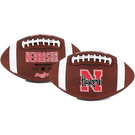 Rawlings Gametime Full-Size Football, Nebraska Cornhuskers - Nebraska Oklahoma Football