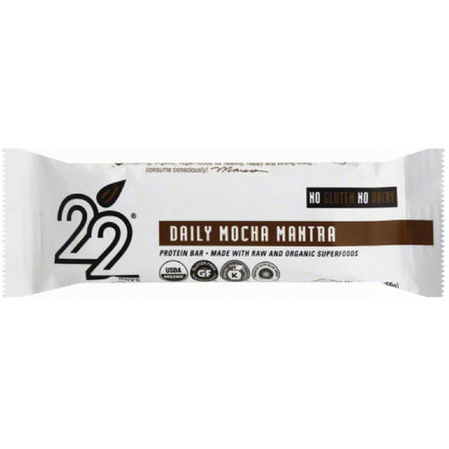 Image of 22 Days Daily Mocha Mantra Vegan Energy Bars, 1.7 oz, 12 count