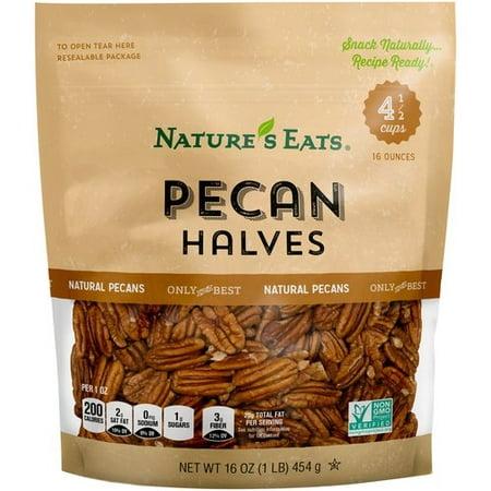 Natures Eats Pecan Halves  16 Oz