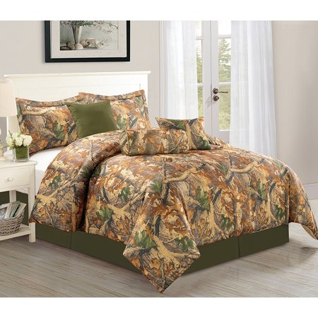 Woodlands 7 Piece Camouflage Comforter Set Over Sized