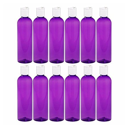 MoYo Natural Labs 4 oz Travel Bottles, Empty Travel Containers with Disc Caps, BPA Free PET Plastic Squeezable Toiletry/Cosmetic Bottle (Neck 20-410) (Pack of 12, (Intl Travel Pack)