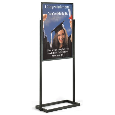 Double Sided Poster Display Stand For 24 X 36 Inch