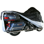 Black Widow Extra Large Dust Cover for Touring & Full Dress Cruiser Motorcycles with Fairings or Bags