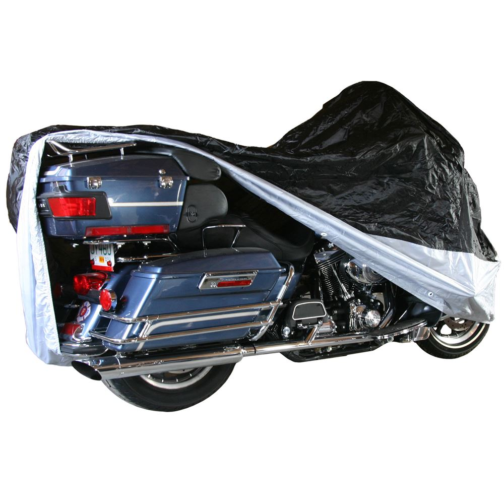 Extra Large Dust Cover for Touring & Full Dress Cruiser Motorcycles with Fairings or Bags