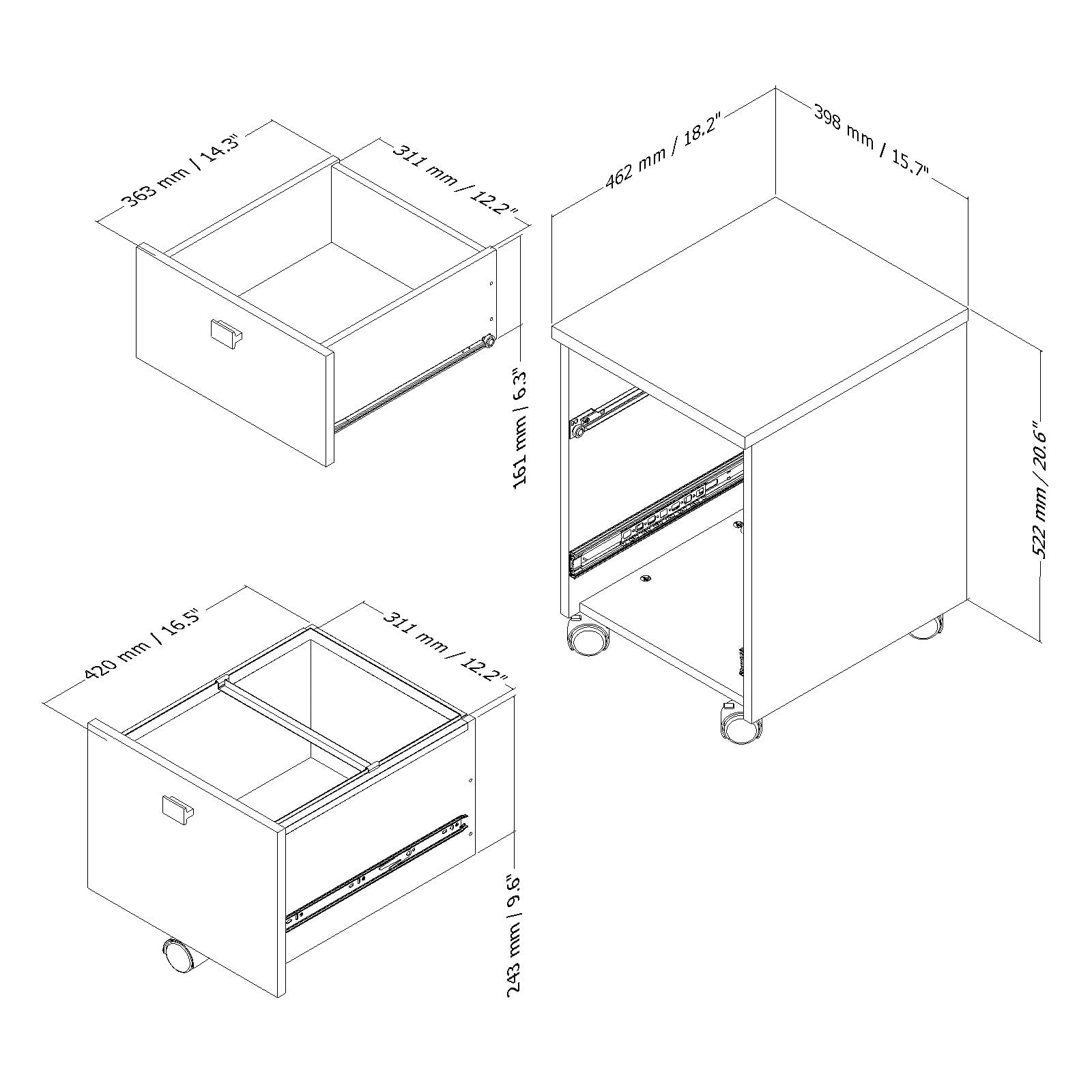 Hanging File Drawer Dimensions Chest Of Drawers