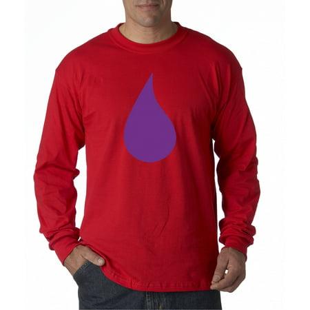 92393c098 New Way - 455 - Unisex Long-Sleeve T-Shirt Prince Purple Tear Rain Drop  Peace Love Rip - Walmart.com