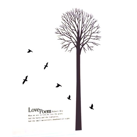 Love Poem Tree Pattern Window Living Room Art Decal Wall Sticker Decor - image 3 de 3