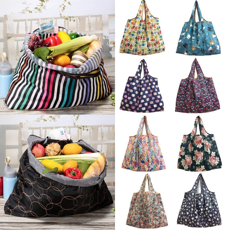 Large Reusable Shopping Bags Gym Travel Tote Shoulder