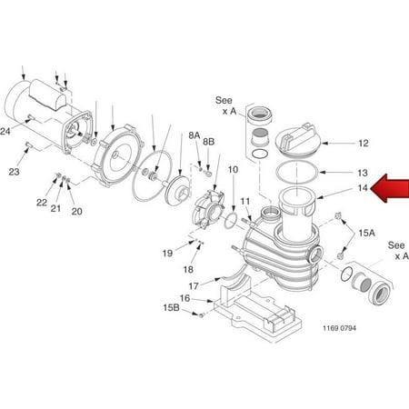 Sta-Rite Pentair C8-58P Dura Glas II Pump Trap Pool Skimmer Basket Replacement - image 1 of 7