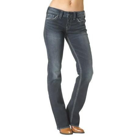 8313a2788a6 Silver Jeans - Silver Jeans Denim Women Suki Bootcut Whiskered Dark Wash  L93616SSA460 - Walmart.com