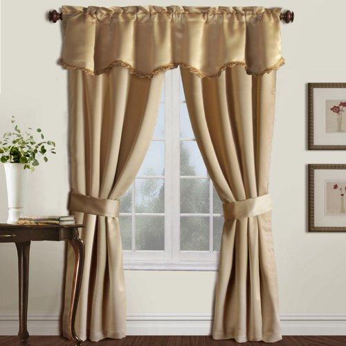 United Curtain Company Burlington 5-Piece Window Set United Curtain Company Burlington 5-Piece Window Set: 52-in x 63-in