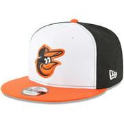 Baltimore Orioles New Era Team Color 9FIFTY Snapback Hat - White/Orange - OSFA