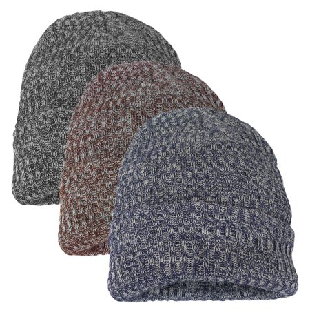 Polar Extreme Ultra Thick Solid Cuffed Beanie with 3M Thinsulate Insulation | Unisex (Gray) (800 Gram Thinsulate Insulation)