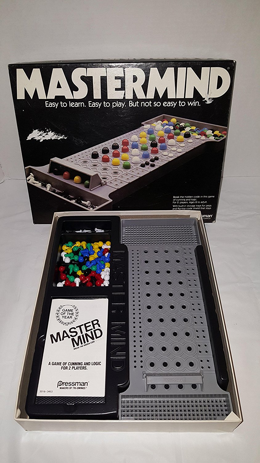 1981 Mastermind ... Break the Hidden Code in This Game of Cunning and Logic ... 1981 Pressman, Break tthe... by