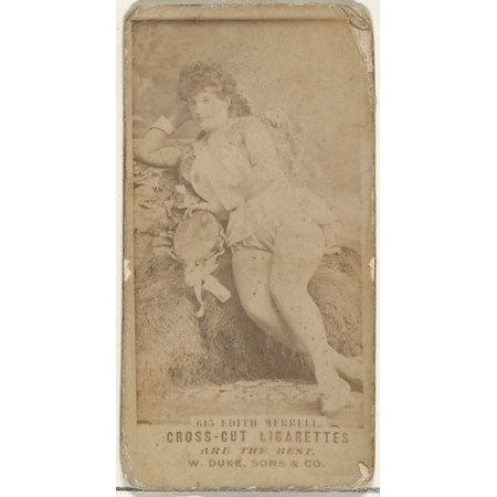 Card Number 615 Edith Merrell From The Actors And Actresses Series  N145 3  Issued By Duke Sons   Co To Promote Cross Cut Cigarettes Poster Print  18 X 24