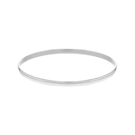 Silver Plated Lightweight Thin Plain Bangle Bracelet for Infants Toddlers