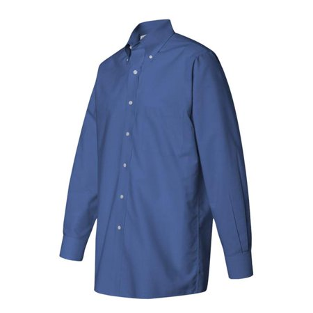 Van Heusen 13V0067 English Blue S Mens Long Sleeve Easy Care Pinpoint Oxford Dress Shirt  44  English Blue   Small