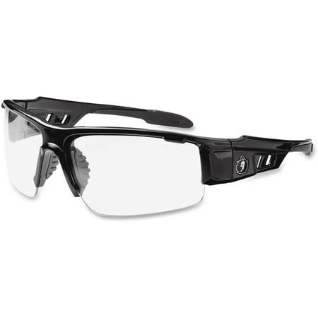 Ergodyne Skullerz Dagr Safety Glasses- Black Frame, Clear Lens (Clearlens)