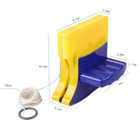 Fancyy Magnetic Window Double Side Glass Wiper Cleaner Cleaning Brush Pad Scraper Yellow & blue - image 6 de 13