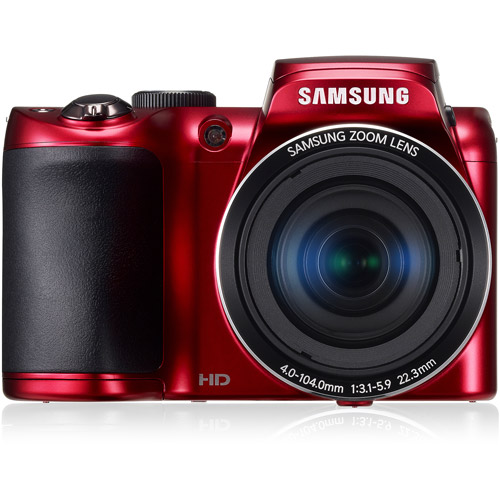 samsung red wb100 ultra zoom camera with 16 2 megapixels and 26x rh walmart com