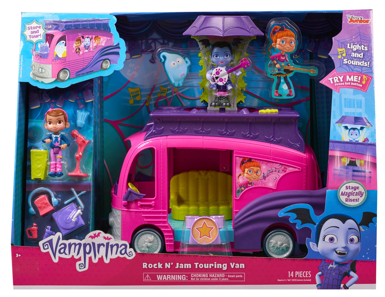 Vampirina Mobile Rising Stage Tour Van Kids Model Car Multi-Piece Set NEW