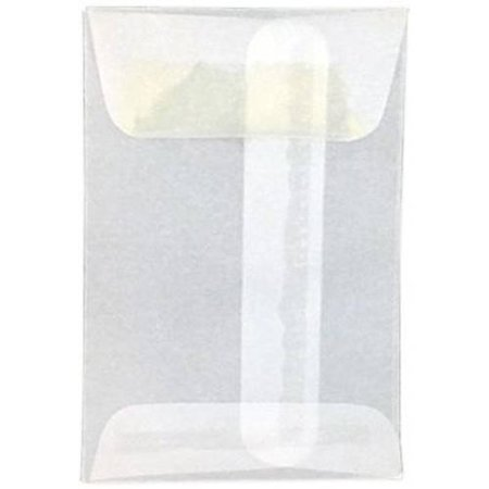 #1 Coin Envelopes (2 1/4 x 3 1/2) - 24lb. Clear Translucent (1000 Qty.) ()