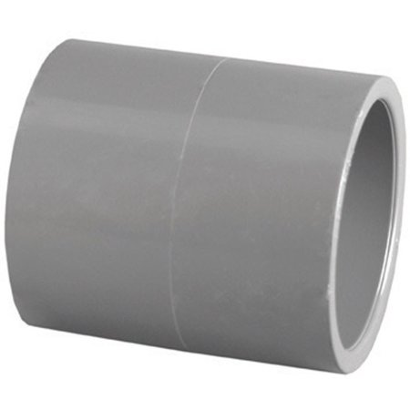 Pipe Fitting, Pvc Coupling, Gray, Slip X Slip, 2
