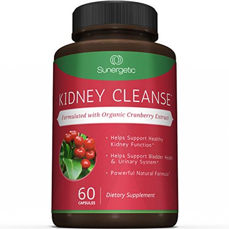 Premium Kidney Cleanse Supplement - Powerful Kidney Support Formula With Organic Cranberry Extract Helps Support Healthy Kidneys, Detox, Bladder Health & Urinary Tract- 60 Vegetarian Capsules