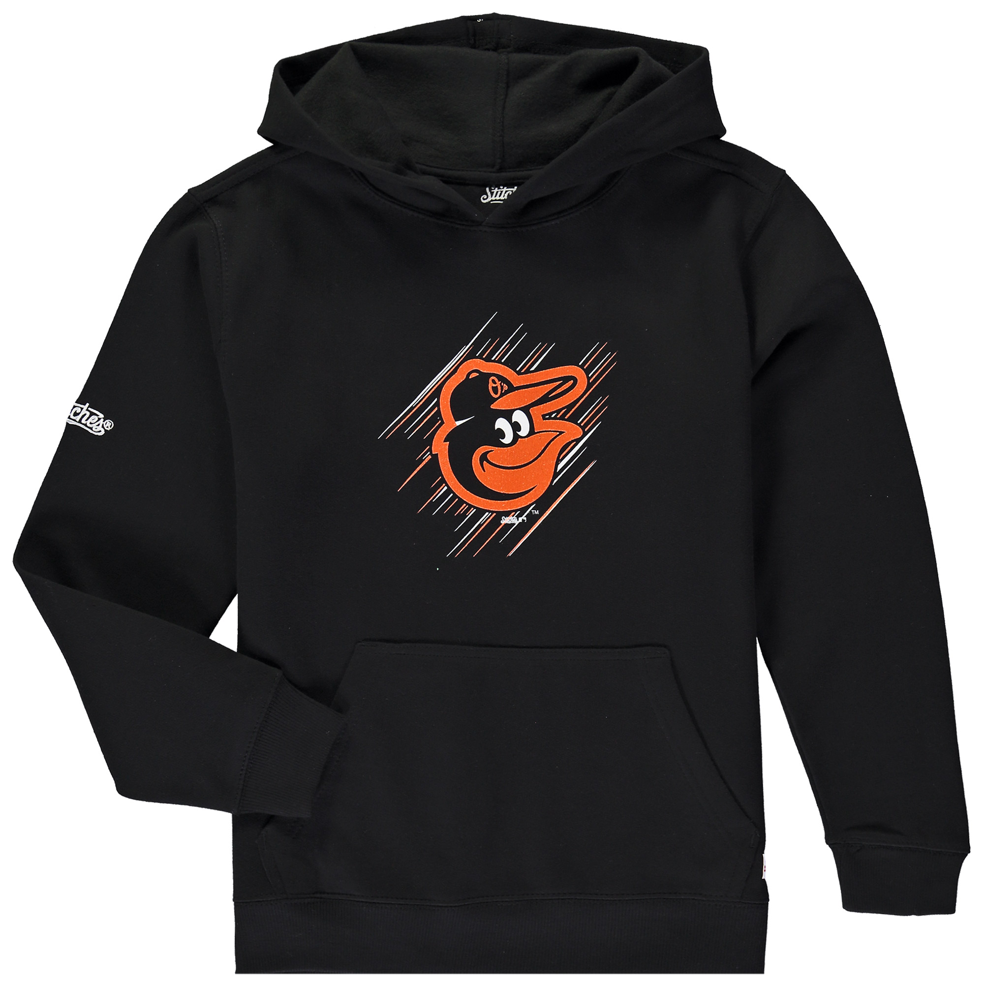 Baltimore Orioles Stitches Youth Pullover Hoodie - Black